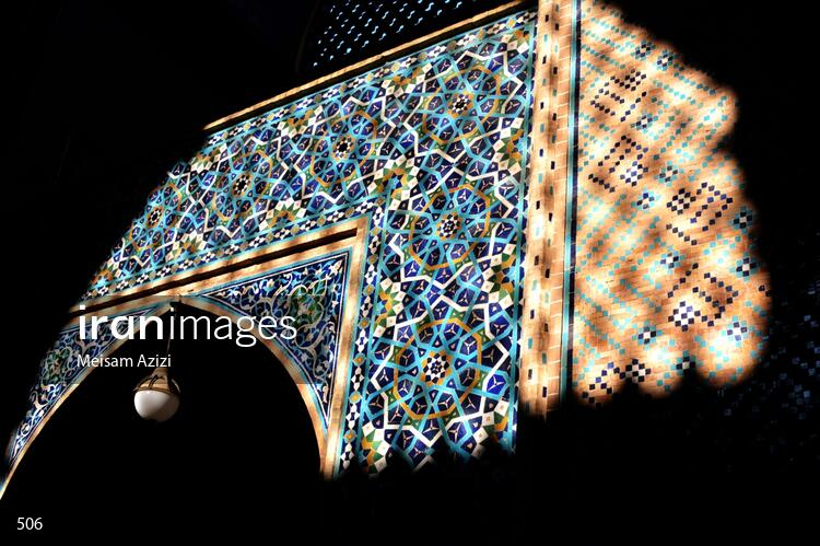 Iranian tile art work at Yazd Mosque
