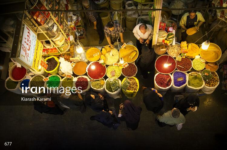 Spice store in Grand Bazaar of Isfahan