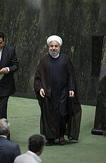 President Hassan Rouhani in Parliament Meeting