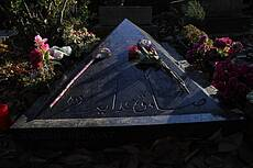 Tomb of Sadegh Hedayat at Père Lachaise Cemetery