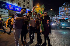 Celebration of qualification for 2018 FIFA World Cup in Iran