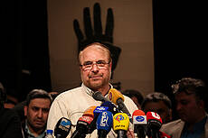 campaign rally in support of Mohammad Bagher Ghalibaf