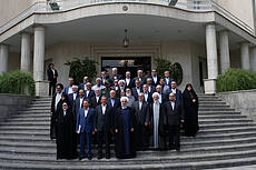 The Last Meeting of Rouhani's First Presidency Cabinet Members