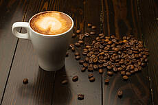 Caffè Latte with Coffee beans