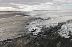 Sharafkhane port in Lake Urmia