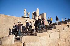 Foreign tourists in Iran
