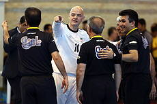 Gianni Infantino with Iranian Referees