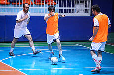 Iranian Photographers Football Team Training Session