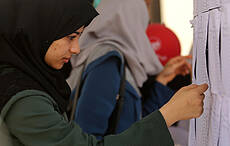 Palestinians students in 'Tawjihi' Final Exams