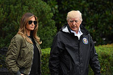 Trump Departs For Harvey Aftermath Visit To Texas
