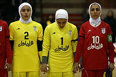 Friendly match of national women's futsal teams of Iran and Russia