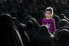 a child in the ceremony of praying for rain